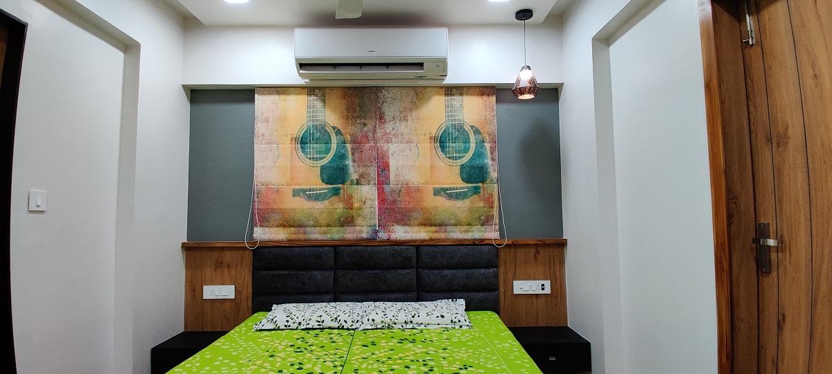 3 BHK Residential Flat Interior Design Gota Ahmedabad
